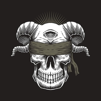Blind skull one eye
