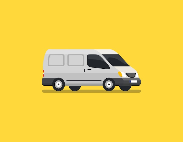 Blind van flat vector