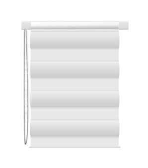 Blind window vector mockup isolated on white background