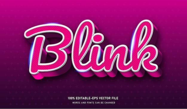 Blink text effect editable font