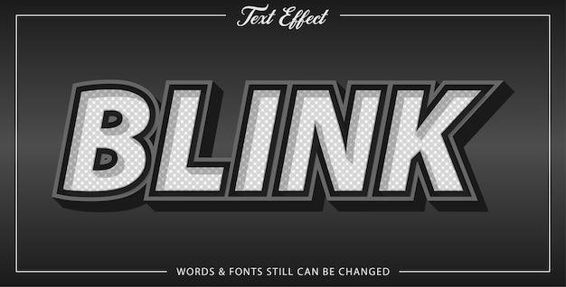 Blink text effect