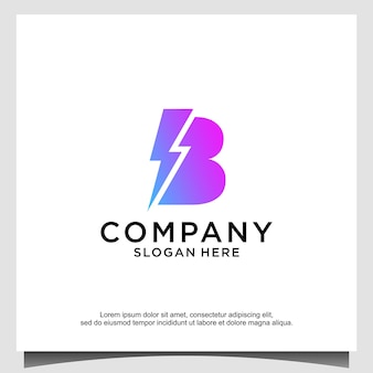 Шаблон оформления логотипа blitz буква b