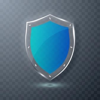Синий щит иллюстрации.