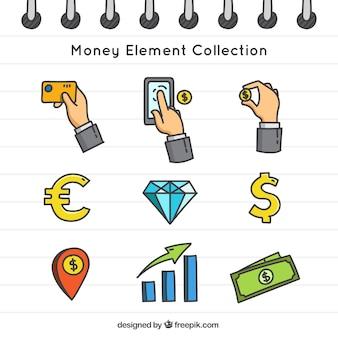 Bloc con disegni di denaro