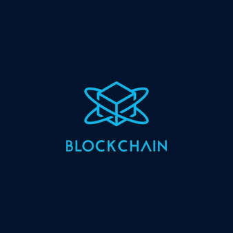 Block chain icon logo template