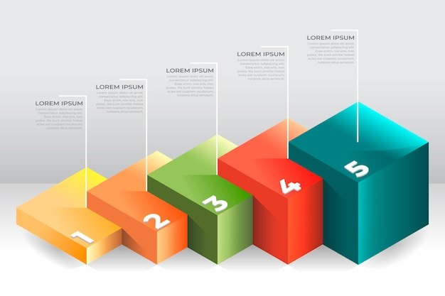 Block layers infographic template