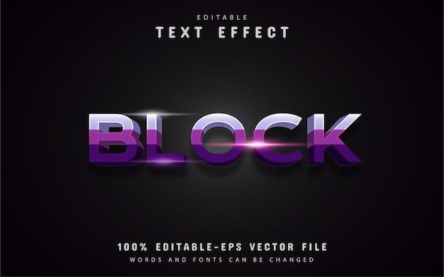 Block purple text effects