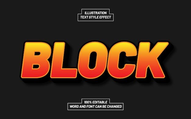 Block text style effect