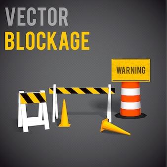 Blockage elements set