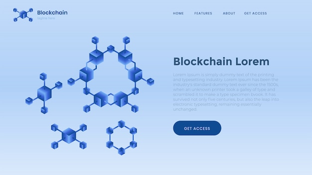Blockchain background template. finance and digital money.
