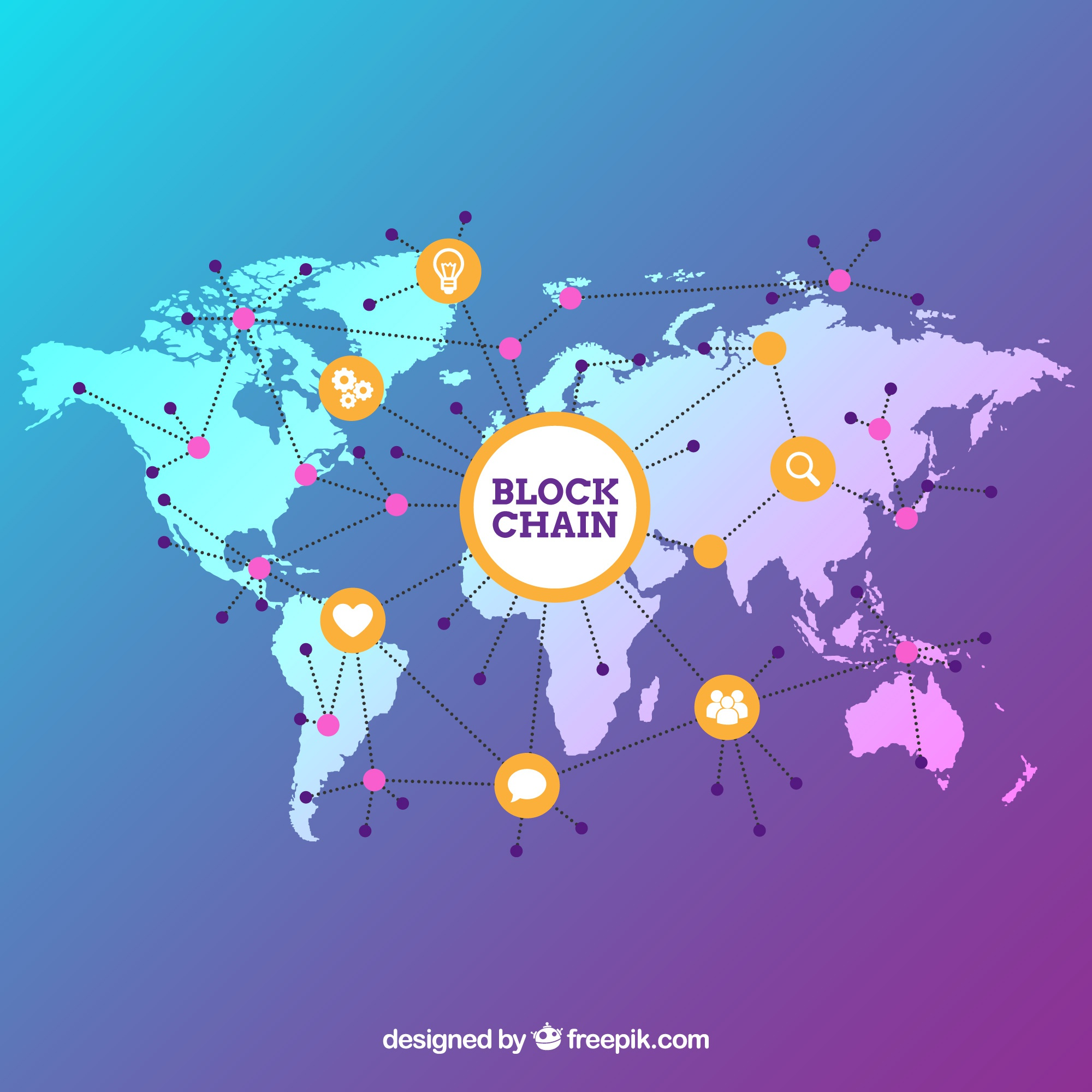 Map vectors 12200 free files in eps format blockchain background with world map gumiabroncs Choice Image
