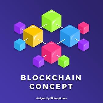 Blockchain concept background