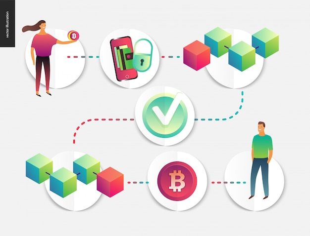 Blockchain concept vector illustration