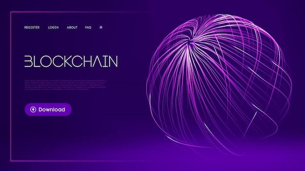 Фон технологии блокчейн абстрактный фон финансов интернет-технологии