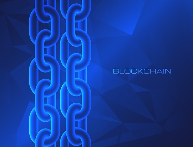 Blockchain technology concept block chain database data cryptocurrency
