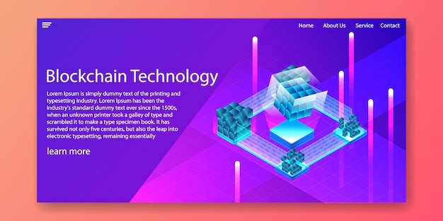Blockchain technology isometric
