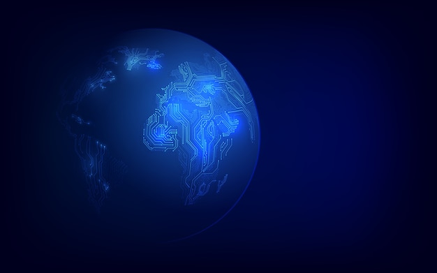 Технология блокчейн с глобальной концепцией подключения, подходящая для финансовых инвестиций или бизнеса в сфере криптовалюты