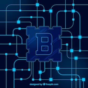 Концепция фона blockchain