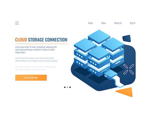 Концепция технологии blockchain, доступ для шифрования данных, серверная комната, веб-хостинг