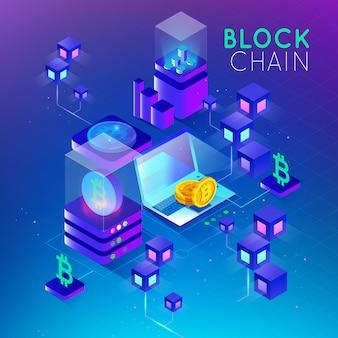 Безопасность изометрической концепции blockchain