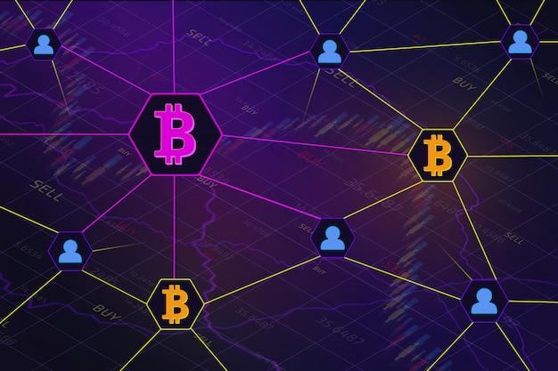 Концепция технологии сетевой шифрования blockchain