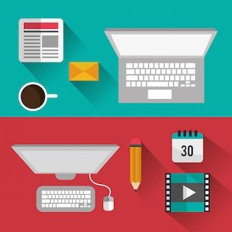 Blog design icons