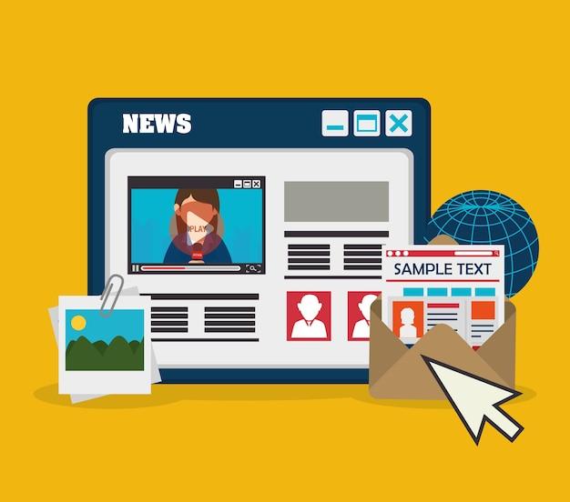 Blog design, vector illustration.