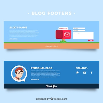 Blog foothers, flat style