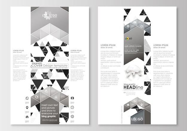 Blog graphic business templates. page website template. abstract triangle design
