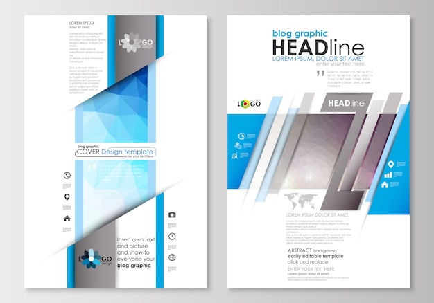 Blog graphic business templates.