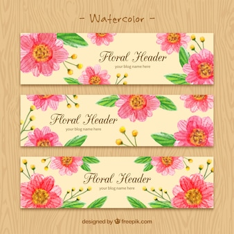 Blog headers with flowers