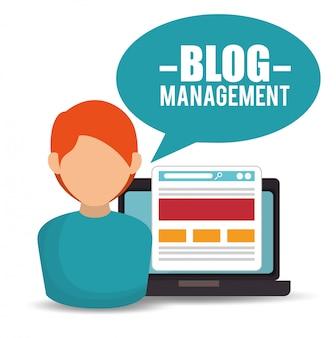 Blog management  design