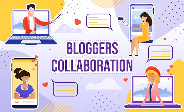Blogger collaboration subtleties for popularity