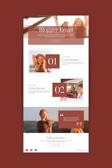 Modello di email di comunicazione di blogger