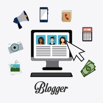 Blogger digital design.