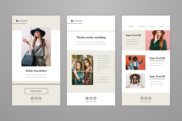 Blogger email template collection