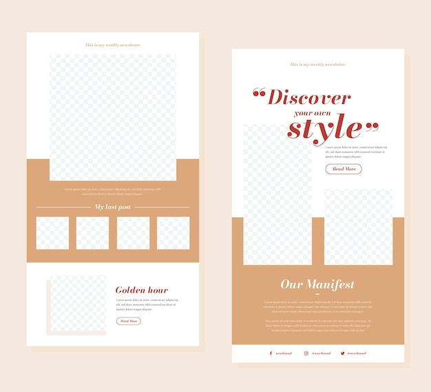 Blogger email template set