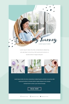 Blogger email template with photo