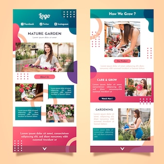 Blogger email template with photos