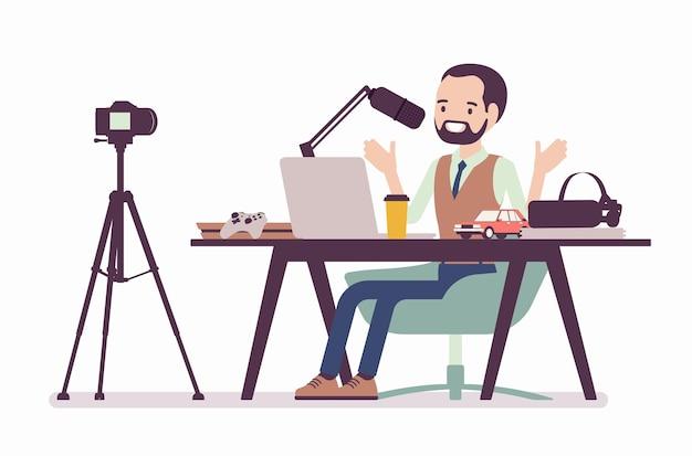 Blogger podcaster streaming
