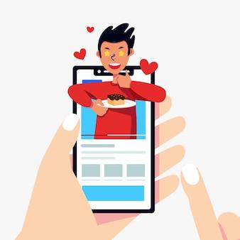 Обзор blogger с помощью смартфона