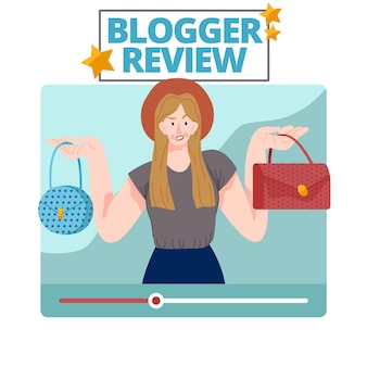 Blogger review illustrated