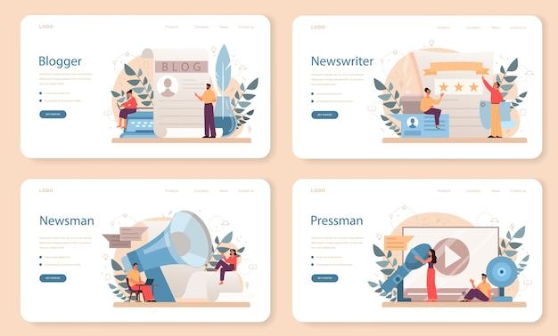 Набор веб-баннера или целевой страницы blogger