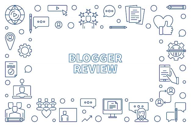 Обзор схемы blogger с горизонтальной рамкой