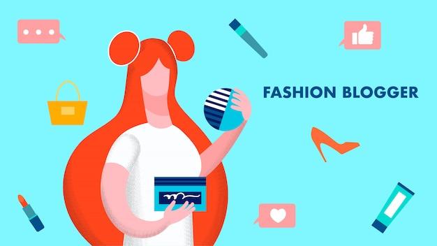 Мода blogger модель иллюстрация
