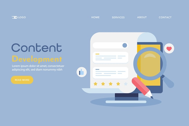 Blogging content development