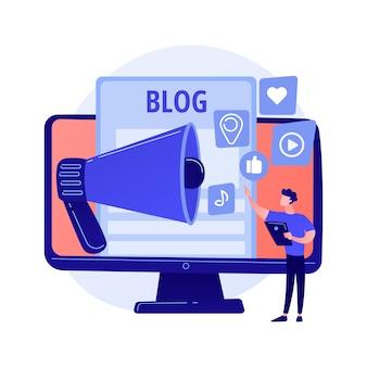 ブログの楽しみ。コンテンツ作成、オンラインストリーミング、ビデオブログ。ソーシャルネットワーク、フィードバックの共有、自己宣伝戦略のために自分撮りを作る若い女の子。