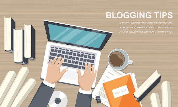 Blogging and journalism illustration