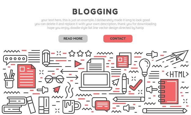 Blogging landing page