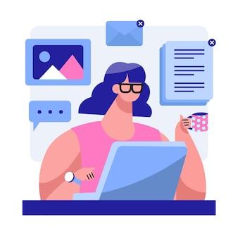 Blogging concetto di social media